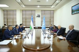 A meeting with the Deputy Secretary-General of the United Nations, Executive director of the Office on Drugs and Crime held at the State Customs Committee