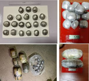 Customs officers seized more than 5 kg of drugs.
