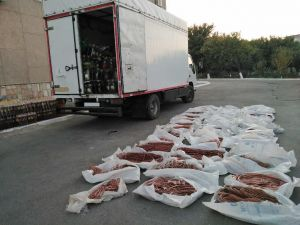 75.5 million soums worth of non-ferrous metals, hidden between the oil and grain products were discovered by customs officials